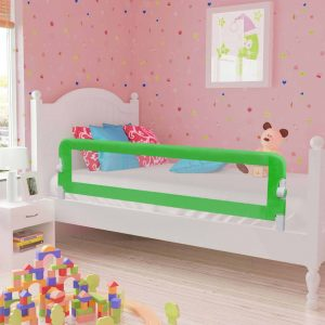 vidaXL Barra de segurança p/ cama infantil 120x42cm poliéster verde