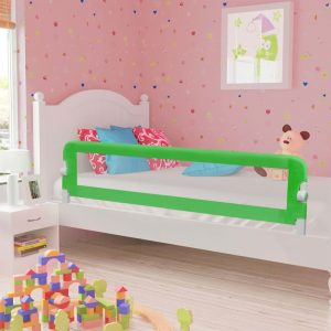 vidaXL Barra de segurança p/ cama infantil 180x42cm poliéster verde