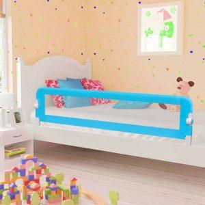 vidaXL Barra de segurança p/ cama infantil 180x42cm poliéster azul