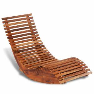 Espreguiçadeira de baloiçar, madeira de acácia