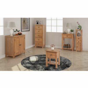 Conjunto de móveis de sala 5 pcs madeira de carvalho maciço