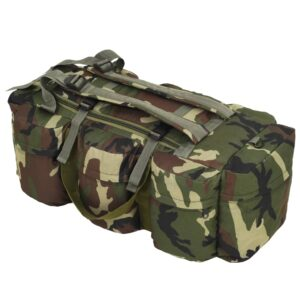 Saco de pano estilo militar 3-em-1 120 L camuflagem