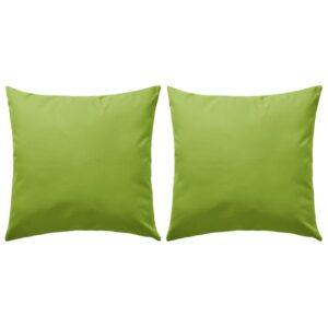 Almofadas para exterior 2 pcs 60×60 cm verde maçã