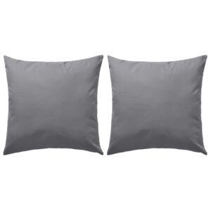 Almofadas para exterior 2 pcs 60×60 cm cinzento