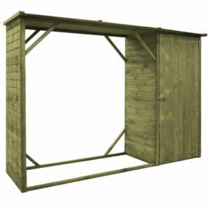 Abrigo para arrumação lenha/ferramentas pinho FSC 253x80x170 cm