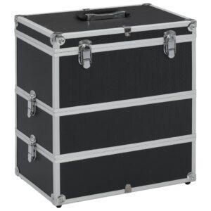 Caixa de maquilhagem 37x24x40 cm alumínio preto