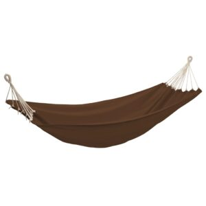 Rede de dormir dobrável 2 pessoas 360×150 cm castanho