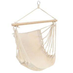 Cadeira de baloiçar/rede grande tecido branco creme