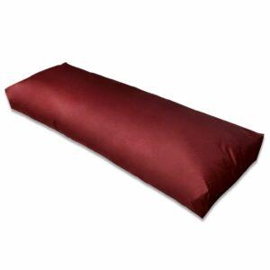 Almofada de assento estofada 120x40x10 cm vermelho tinto