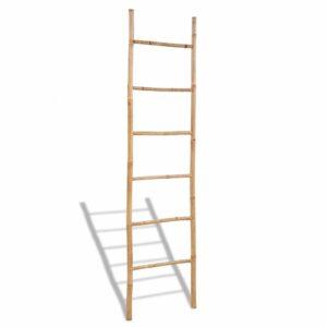 Escada para Toalhas de Bambu com 6 Degraus