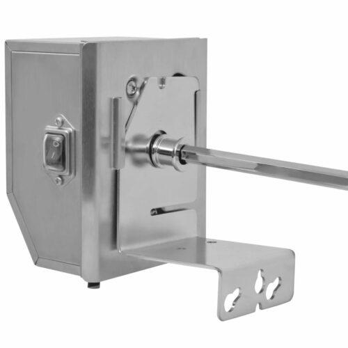 Espeto Rotisserie de churrasqueira + motor profissional de aço 1200 mm