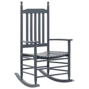 Cadeira de baloiço com assento curvo madeira cinzento