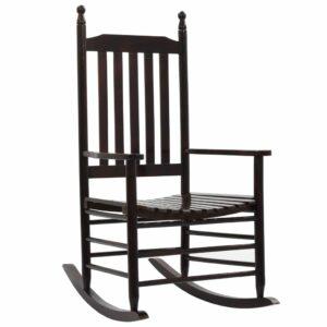 Cadeira de baloiço com assento curvo madeira castanho