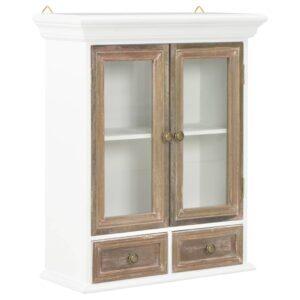 Móvel de parede 49x22x59 cm madeira maciça branco
