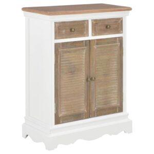 Aparador 60x30x80 cm madeira maciça branco