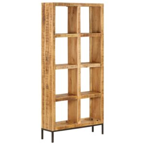 Estante 80x25x175 cm madeira de mangueira maciça