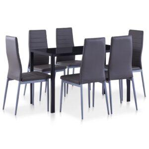 Conjunto de jantar 7 pcs cinzento
