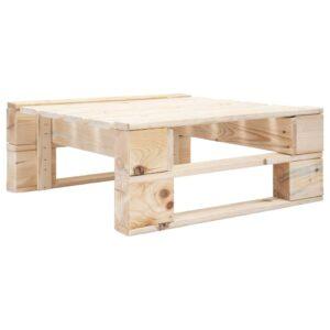 vidaXL Otomano de paletes para jardim madeira FSC