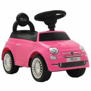 vidaXL Carro de passeio Fiat 500 rosa
