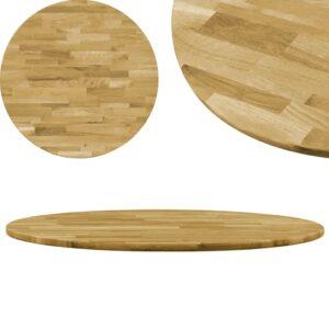 vidaXL Tampo de mesa madeira de carvalho maciça redondo 23 mm 600 mm