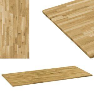 vidaXL Tampo de mesa madeira carvalho maciça retangular 23 mm 120x60cm