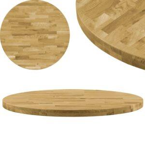 vidaXL Tampo de mesa madeira de carvalho maciça redondo 44 mm 500 mm