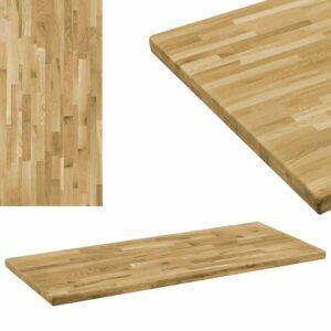 vidaXL Tampo de mesa madeira carvalho maciça retangular 44 mm 120x60cm