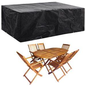 vidaXL Capa para mobiliário de jardim com 8 ilhós 242x162x100 cm