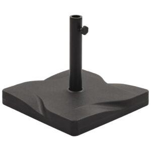 vidaXL Base para guarda-sol quadrada 20 kg preto