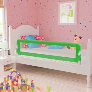 vidaXL Barra de segurança para cama de criança 2 pcs 150×42 cm verde