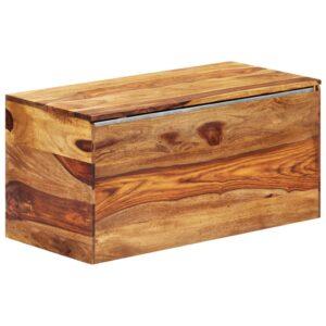 vidaXL Arca de arrumação 80x40x40 cm madeira de sheesham maciça