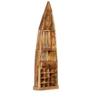 vidaXL Garrafeira 50x40x180 cm madeira de mangueira maciça