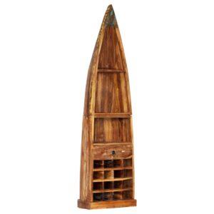vidaXL Garrafeira 50x40x180 cm madeira recuperada maciça