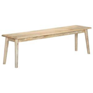 vidaXL Banco 160 cm madeira de mangueira maciça