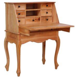 vidaXL Escrivaninha 78x42x103 cm madeira de mogno maciça