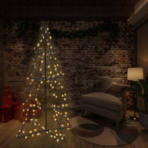 vidaXL Árvore de Natal em cone 240 LEDs 115×150 cm interior e exterior