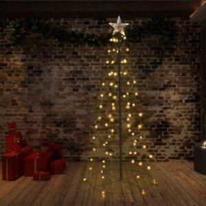 vidaXL Árvore de Natal em cone 96 LEDs 72×180 cm interior e exterior