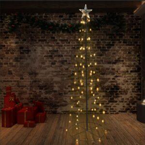 vidaXL Árvore de Natal em cone 140 LEDs 72×240 cm interior e exterior