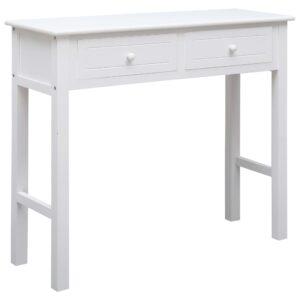 vidaXL Mesa consola 90x30x77 cm madeira branco