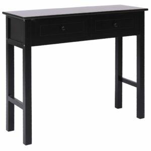 vidaXL Mesa consola 90x30x77 cm madeira preto