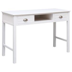 vidaXL Secretária 110x45x76 cm madeira branco
