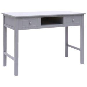 vidaXL Secretária 110x45x76 cm madeira cinzento