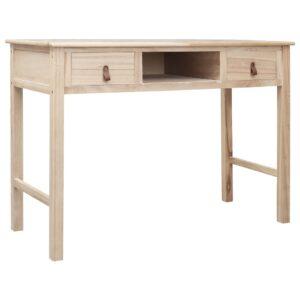 vidaXL Secretária 110x45x76 cm madeira natural