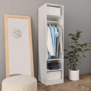 vidaXL Roupeiro 50x50x200 cm contraplacado branco brilhante