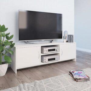 vidaXL Móvel de TV 120x30x37,5 cm contraplacado branco