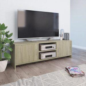 vidaXL Móvel de TV 120x30x37,5 cm contraplacado cor carvalho sonoma
