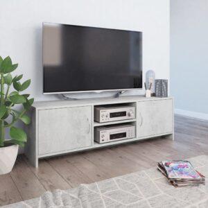 vidaXL Móvel de TV 120x30x37,5 cm contraplacado cinzento cimento