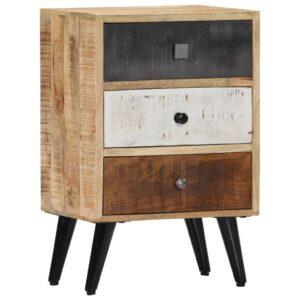 vidaXL Mesa de cabeceira 40x30x60 cm madeira de mangueira maciça