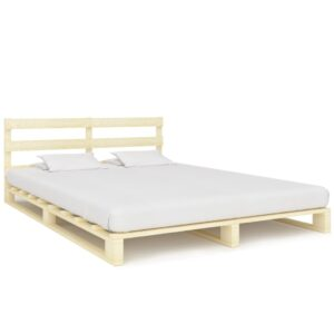 vidaXL Estrutura de cama em paletes pinho maciço 180×200 cm