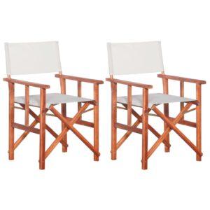 vidaXL Cadeiras de realizador 2 pcs madeira de acácia sólida